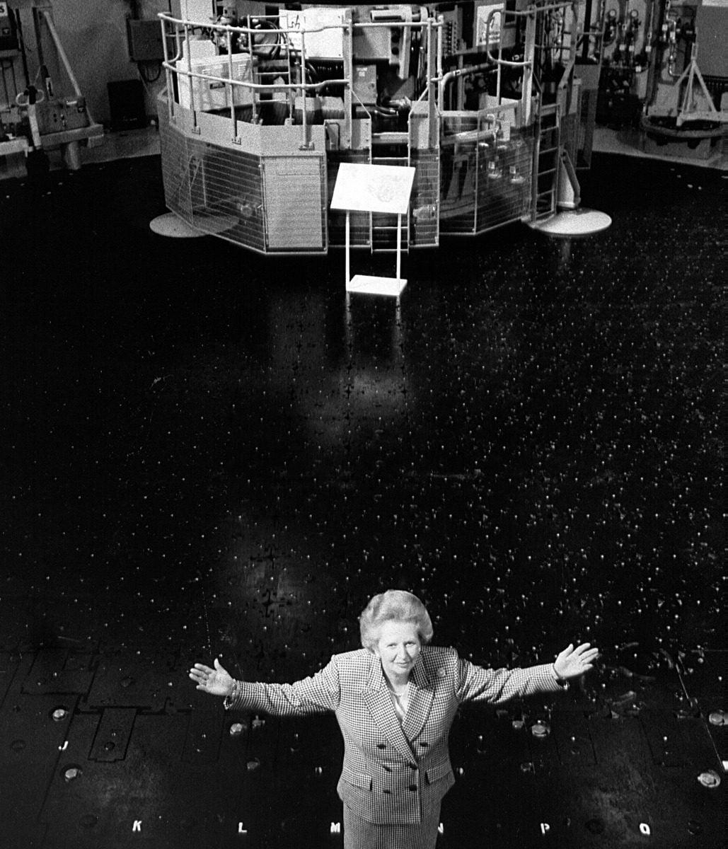 Margaret Thatcher at Torness