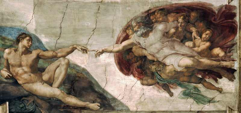 God proposition: god true or god false? Creation_of_Adam_Michelangelo..cr_