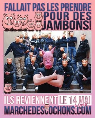 Pork, Secularism, and Anarchy Marche-des-cochons-Affichette