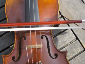 Grip the fiddle and bow photo