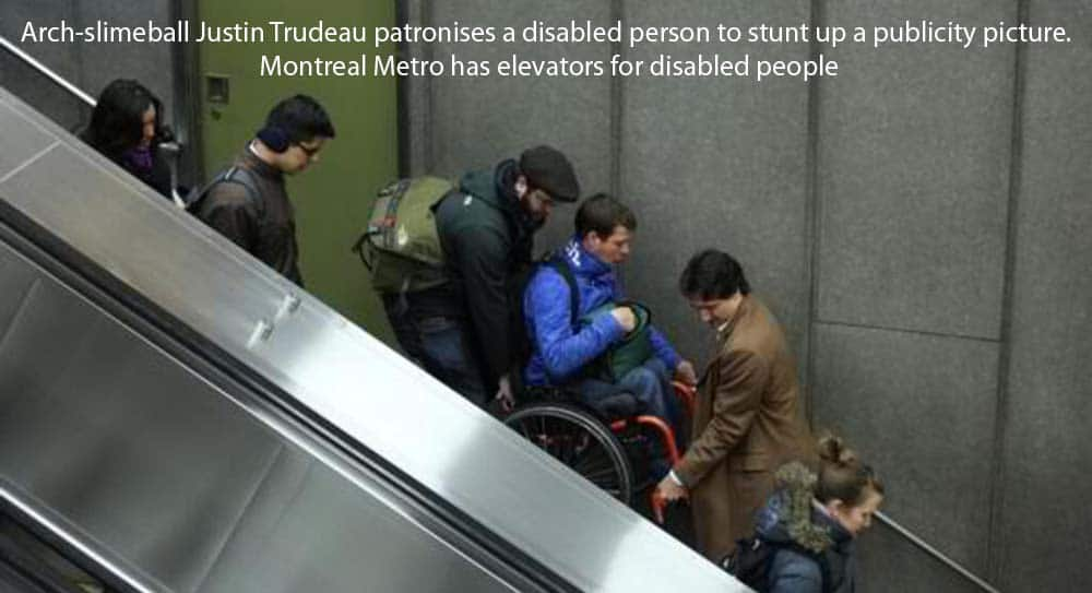 Trudeau's Cynical PR Stunt Mocks Disabled People